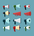 loudspeakers promotion advertizing elements vector image