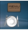 menu background blur vector image
