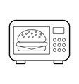 microwave oven isolated icon vector image vector image
