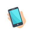 mobile phone smartphone hand vector image