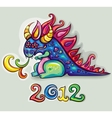 new year dragon vector image vector image