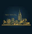 new york city background vector image vector image