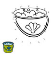 numbers game for children bucket with water vector image vector image