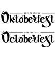 Oktoberfest beer festival Lettering text vector image vector image