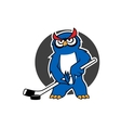 Owl ice hockey player with stick vector image vector image