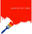 paintbrush painting vector image