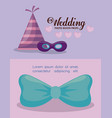party hat and accessories decorative party vector image vector image