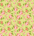 Pattern with yellow and pink roses vector image vector image
