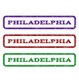 Philadelphia watermark stamp vector image