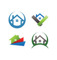 real estate house logo template vector image vector image