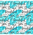 Romantic quote seamless pattern Love text print vector image vector image