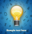 science realistic lamp with icons technology vector image