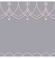 Seamless pearl ornament background vector image