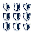 security shield icons and badges set vector image