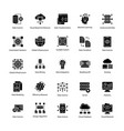 set of data science glyph icons vector image vector image