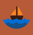 ship icon flat pictogram on background symbol vector image