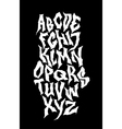 Spooky hand lettering font alphabet vector image vector image
