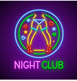 striptease club neon sign vector image