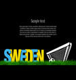 sweden and a soccer ball at the gate vector image vector image