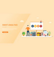 swot analysis business concept for website vector image vector image