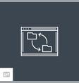 synchronization line icon vector image vector image