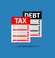 tax debt form icon vector image