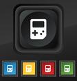 Tetris icon symbol Set of five colorful stylish vector image vector image