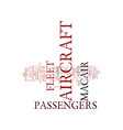 the aircraft of macair text background word cloud vector image vector image