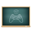 The blackboard gamepad vector image vector image