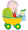 toddler in a pram vector image