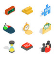 transaction icons set isometric style vector image vector image