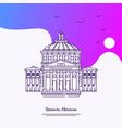travel romanian athenaeum poster template purple vector image