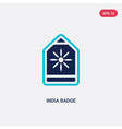 two color india badge icon from india concept vector image