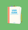 user guide book vector image vector image