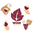 wine collection vector image vector image