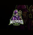 wizard mascot sport logo design vector image vector image