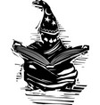 young wizard studying vector image vector image