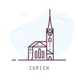 zurich fraumunster line style vector image vector image