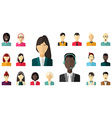 flat icon set Different people character male vector image