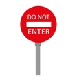 sign do not enter traffic isolated vector image
