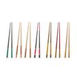 3d chopsticks vector image