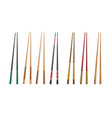 3d chopsticks vector image vector image