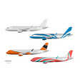 airplane design side view plane vector image vector image