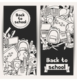 Back to school background with education hand vector image vector image