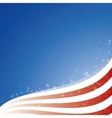 background USA flag with light and stars vector image vector image