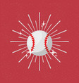 ball sport baseball sunburst color background vector image