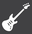bass guitar glyph icon music and instrument vector image