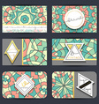 Business card set Card with geometric mandala vector image vector image