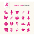 Cancer awareness elements icon set EPS10 file vector image vector image