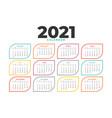clean 2021 new year calendar template design